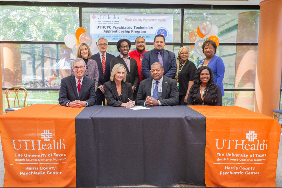Congratulations to University of Texas Health Science Center for being the first healthcare organization in the Gulf Coast WDA 13 county Houston Galveston Region to participate in the Department of Labor Registered Apprenticeship program for their Psychiatric Technician role. Workforce Solutions is very excited to partner with UT Health for the opportunity to provide short and long-term strategic solutions through the Registered Apprenticeship and On-The-Job Training incentive.